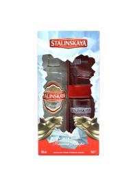 Stalinskaya - Vodka Red + 2 pahare - 0.7L, Alc: 40%