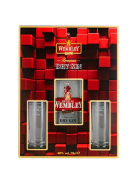 Wembley - Gin + 2 pahare - 0.7L, Alc: 40%