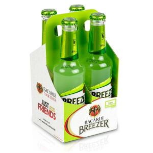 Bacardi Breezer - lime 0.275 L  - 4 pack