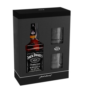 Jack Daniel's - Tennessee whiskey gb + 2 pahare - 0.7L